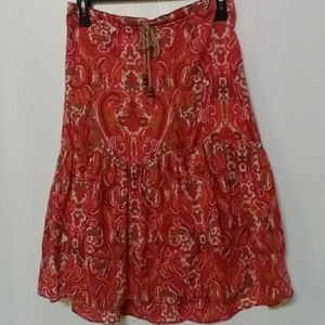 Beautiful Boho Tommy Hilfiger Floral Skirt Sz 10